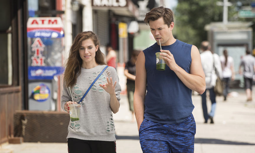 Allison Williams and Andrew Rannells