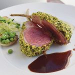 Pistachio and Chive-Crusted Lamb