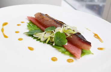 Mackerel and melon