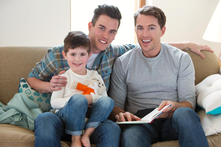 gay fathers with boy