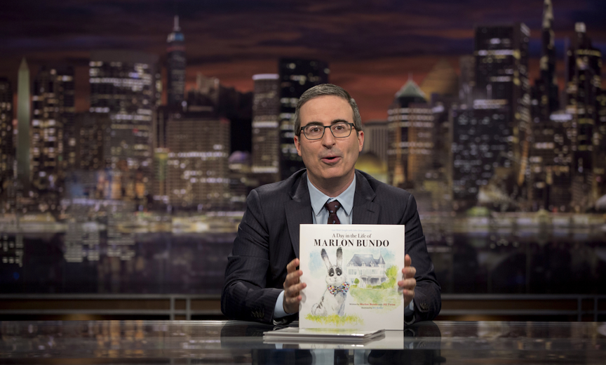 Comic John Oliver Takes Pence Down the Rabbit Hole With a Bunny Book Parody | Metrosource