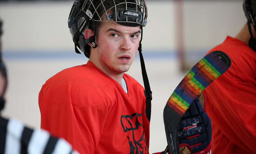lgbt hockey player