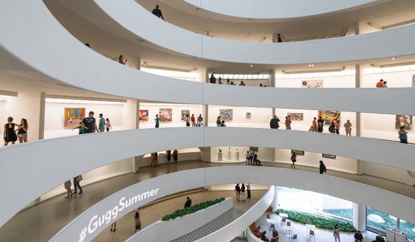 Interior of the Solomon R. Guggenheim Museum