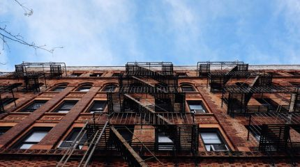 nyc building with fire escape