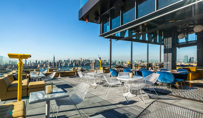 deck overlooking manhattan