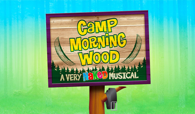 camp morning wood event poster