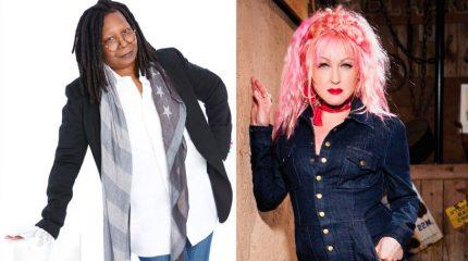 Whoopie Goldberg, Cyndi Lauper
