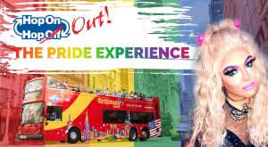 hop on hop out pride tour bus