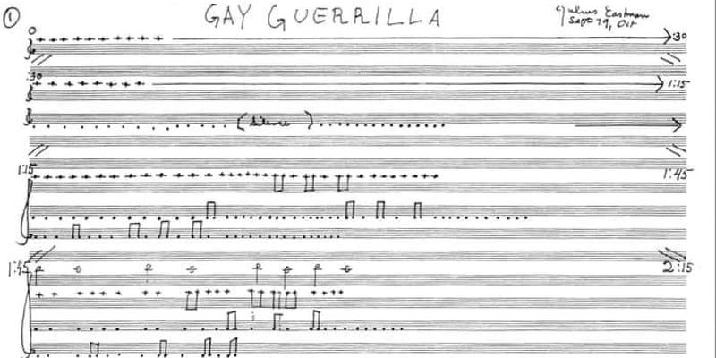 gay guerilla music score