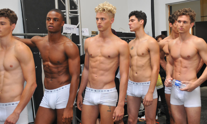 Backstage Candid of Male Models