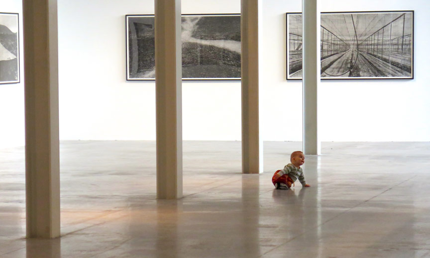 baby in art gallery