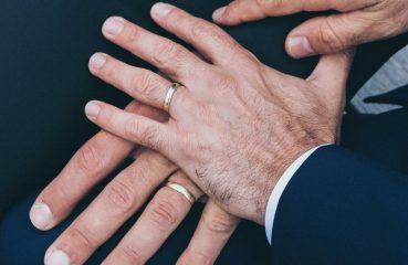 gay wedding hands