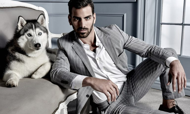 Nyle DiMarco and a Husky