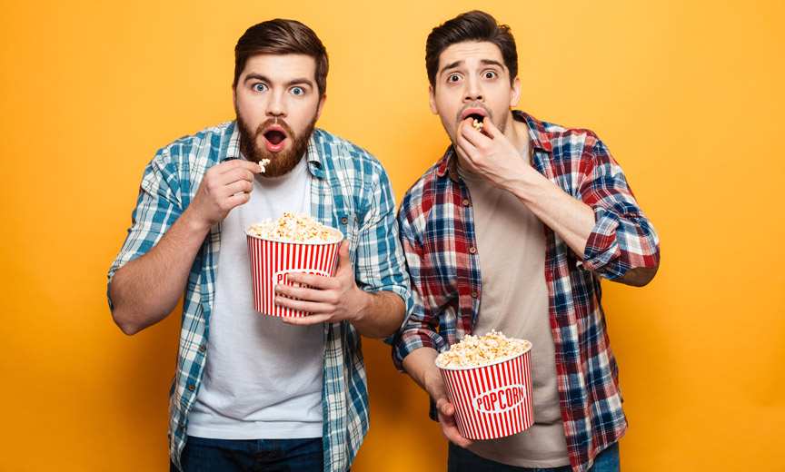 Popcorn-Eating Movie Guys