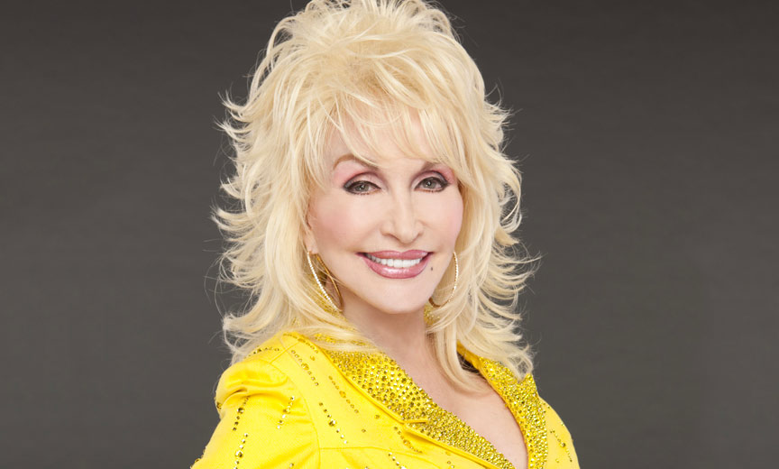 dolly parton in yellow