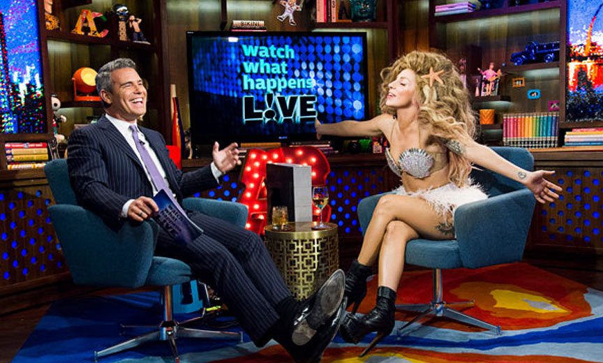 Andy Cohen interviewing Lady Gaga