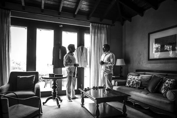Two men in hotel