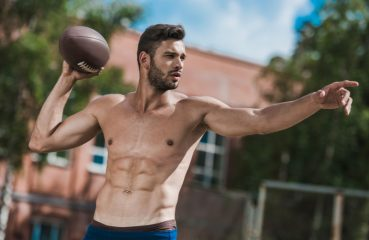 football man with abs