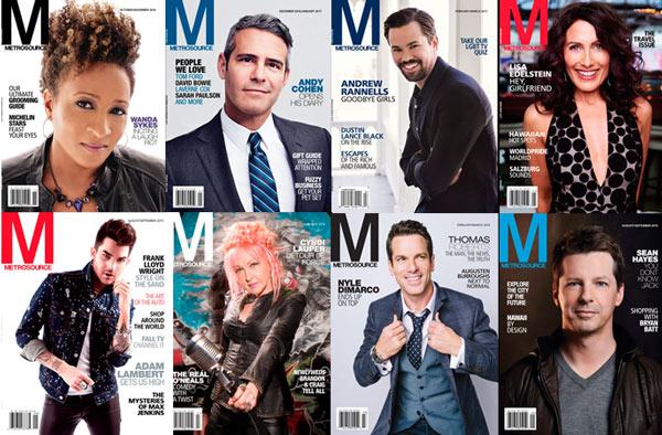 Metrosource Magazine covers