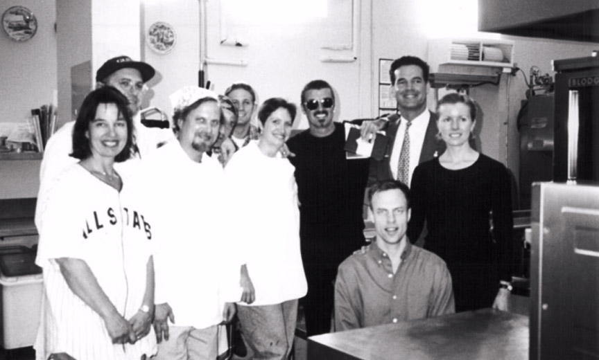 George Michael with Project Angel Food staff