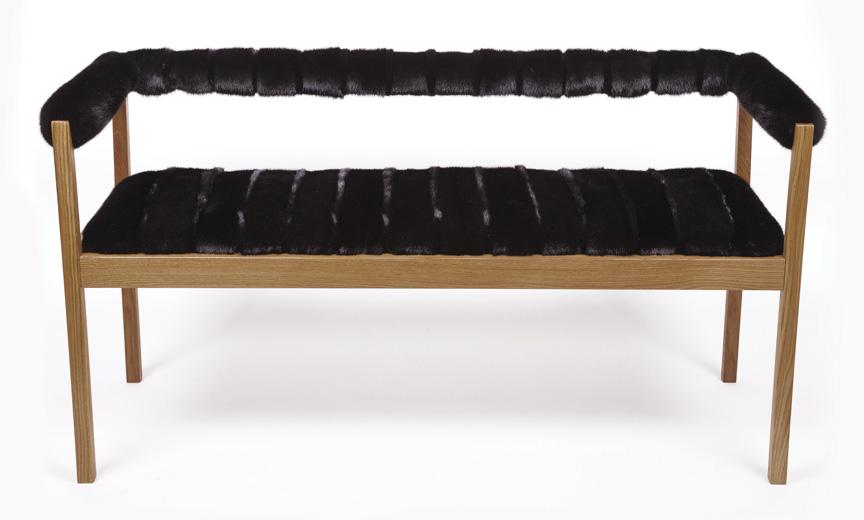 Onyx Mink Bench