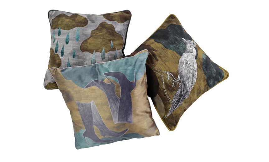 gouttes Oiseau textiles