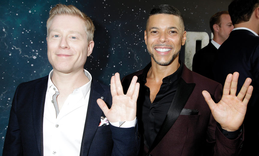 Anthony Rapp and Wilson Cruz