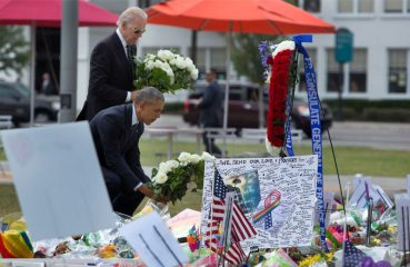 Obama and Biden at Pulse memorial