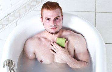 Ginger Guy in Bathtub