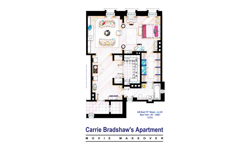 Carry Bradshaw-apartment-floorplan