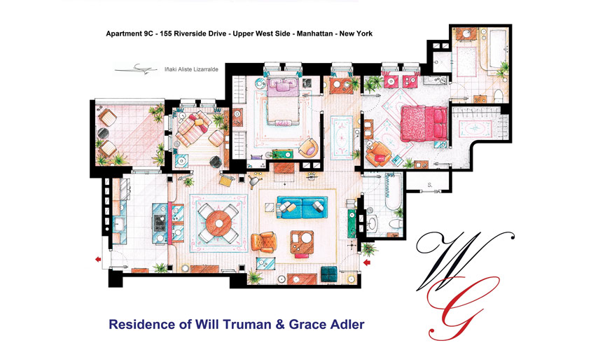 Famous Floorplans What Tv Characters Homes Would Really Look Like