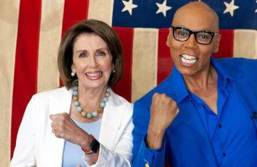 Nancy Pelosi with RuPaul in drag race all stars 3