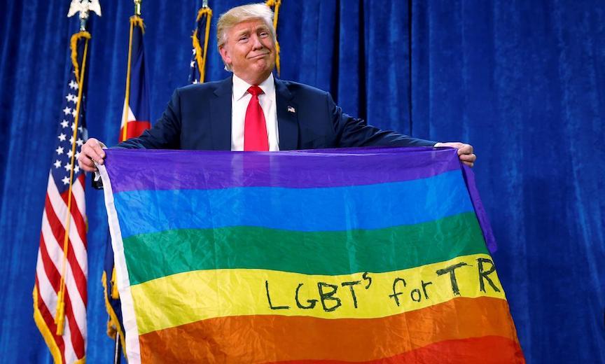 Trump with Rainbow flag