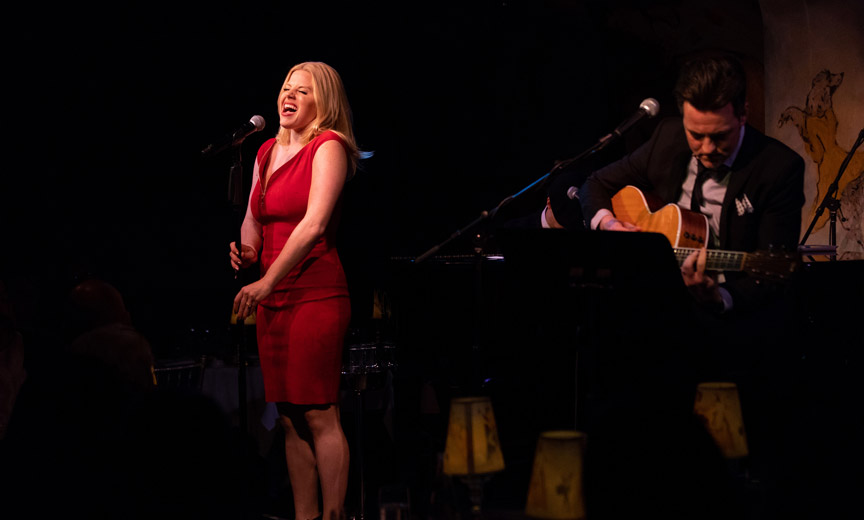 megan hilty singing at cafe carlyle