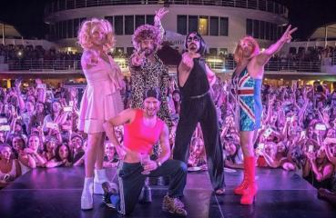 Backstreet Boys as Spice Girls