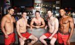 shirtless in gay bar