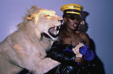 grace jones with lion