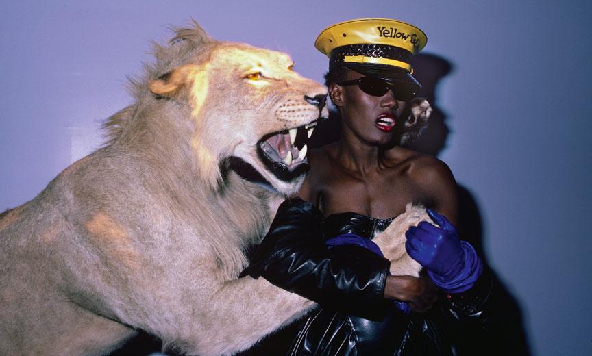 grace jones with lion