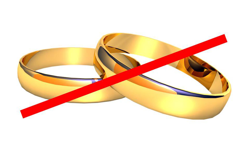 cancelled out wedding rings