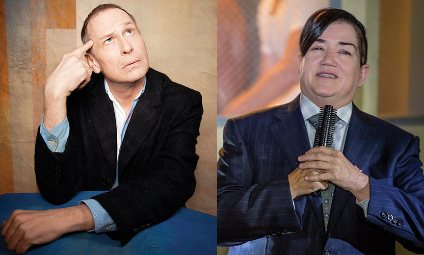 Scott Thompson and Lea Delaria