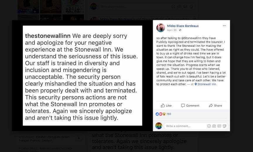 Stonewall apology for discrimination