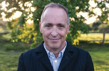 David Sedaris outdoors in country