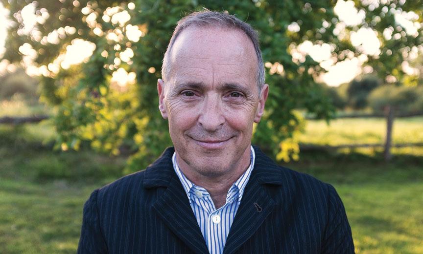 David Sedaris outdoors in country