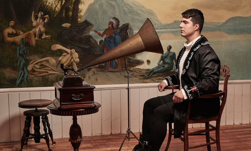 Jeremy Dutcher painting