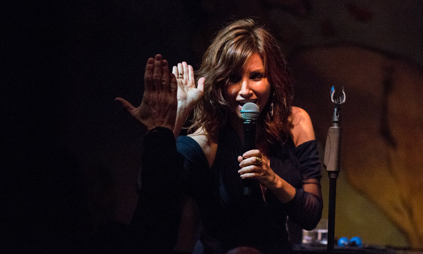 gina gershon high five