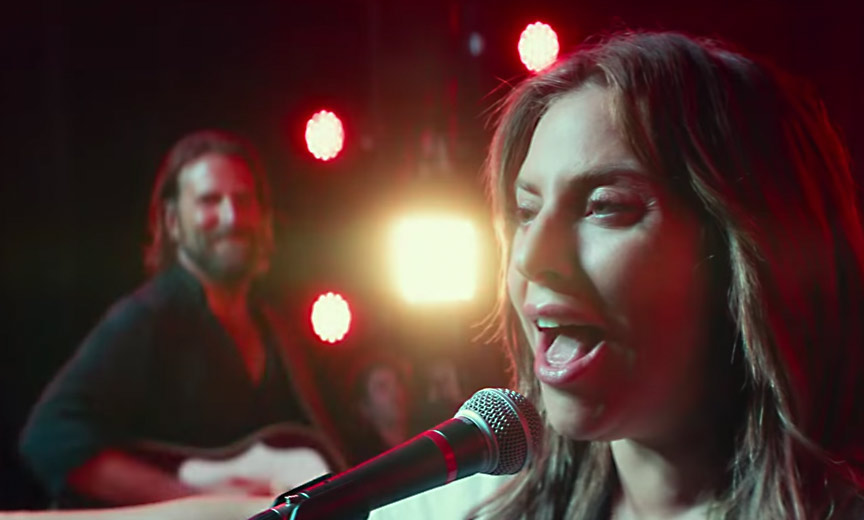 "Bradley Cooper/ Lady Gaga in ""A Star is Born"""