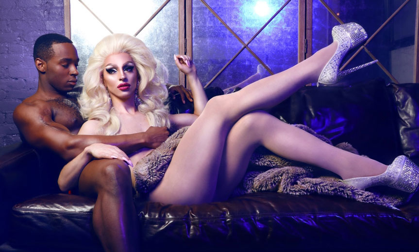 miz cracker reclines with man
