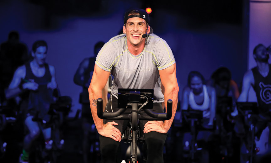 Cody Rigsby teaching spin class