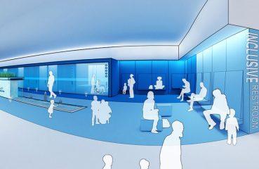 inclusive restroom rendering