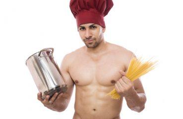 Shirtless Pasta Chef